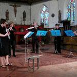 2007 - Bois Le Roy (Eure) - Quand PentaGônes était réellement un quintette ! /When PentaGônes was really a quintet! Aurélia Beziau, Valérie Lewandowski, Ghyslain Regard, Delphine Marcorelles, Sophie Dufeutrelle
