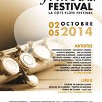 La Côte Flûte Festival (Suisse) 2014 affiche
