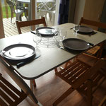 espace repas mobilhome 6 pers /3 chambres