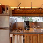 ensemble cuisine lodge cabane perchée