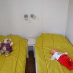 chambre double 2x1 lit 80  mobilhome 6 pers/ 2 salles de bain