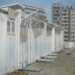 Knokke, Strandhäuser, 20cm x 20cm