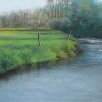 Herbst am Fluss, 2011, 25cm x 65cm