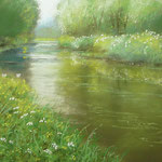 Fluss im Sommer, 2012, 30 cm x 75 cm