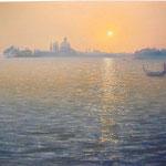 Venedig, Lagune am Abend , 2011, 46cm x 65cm