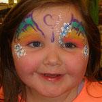 Kinderschminken von den Facepainters am verkaufoffenen Sonntag im Multi Emden