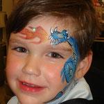 Kinderschminken am verkaufsoffenen Sonntag im Multi Emden von den Facepainters