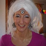 Wahrsagerin mit drittem Auge von den Facepainters Facepainting in Hinte Emden Aurich Leer Norden für die Kulisse Pappnasenparty  Fastnacht