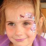 Kinderschminken von den Facepainters für den Bügerverein Haskamp in Hinte