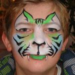 Kinderschminken als Tiger  von den Facepainters