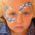 Kinderschminken als Sternenfee von den Facepainters aus Hinte bei Emden