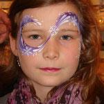Kinderschminken von den Facepainters im DM Markt in Emden