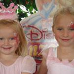 Kinderschminken zum Prinzessinnen Tag von den Facepainters aus Hinte