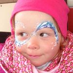 Kinderschminken als Sternenfee von den Facepainters für die Fresena Apotheke in Hinte
