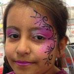 Kinderschminken zu Halloween von den Facepainters in Esens, Norden & Emden