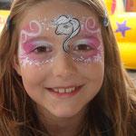 Kinderschminken von den Fcepainters beim Sommerfest vom Lidl Cloppenburg