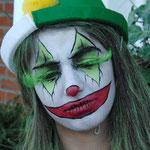 böser Clown gemalt von den Facepainters in Hinte Emden Aurich Leer Norden Krummhörn