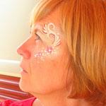 Face painting von den Facepainters beim sommerfest des Elternvereins krebskranker Kinder