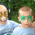 Kinderschminken von den Facepainters in Freepsum