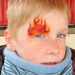 Kinderschminken von den Facepainters für die Fresena apothke  in Hinte