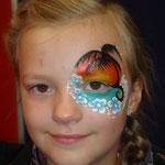 Kinderschminken von den Facepainters für die SKN bei Fleisch & Knolle in Norden