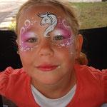 Kinderschminken von den Facepainters beim Heimatverein Uphusen