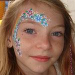 Kkinderschminken von den Facepainters beim Sommerfest vom Lidl Cloppenburg