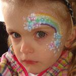 Kinderschminen von den Facepainters beim Sommerfest vom Lidl Cloppenburg