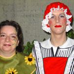 Frau Holle und seine Gärtnerin von den Facepainters Facepainting Hinte Emden Leer Norden Aurich Fastnacht