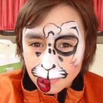 Kinderschminken als Hund von den Facepainters für die Fresena Apotheke in Hinte