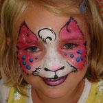 Kinderschminken für Mädchen von den Facepainters aus Hinte bei Emden