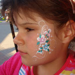 Kinderschminken von den Facepainters in Greetsiel