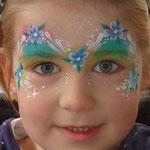 Kinderschminken von den Fcepaitners beim Sommerfest vom Lidl Cloppenburg