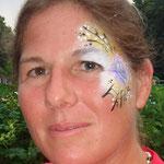 Face painting von den Facepainters im Van Ameren Bad in Emden zur Gruselnacht
