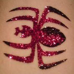 Spinne als Glitter Tattoo