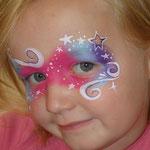 Geburtstaagskind gemalt von den Facepainters