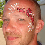 Kleiner Spiderman von den Facepainters in Greetsiel