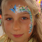 Kidnerschminken von den Facepainters beim Sommerfest vom Lidl Cloppenburg