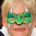 Kinderschminken für Jungs von den Facepainters aus Hinte bei Emden