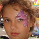 Kinderschminken von den Facepainters beim sommerfest vom Lidl Cloppenburg