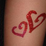 Glitter Tattoo Glitzertattoo von den Facepainters in Emden Aurich norden Leer Krummhörn