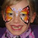 Kinderschminken von den Facepainters für das Autohaus Max Moritz