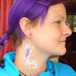 Facepainting von den FAcepainters für den Bürgerverein Haskamp in Hinte