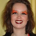Teufelin gemalt von den Facepainters Facepainting in Hinte Emden Fastnacht