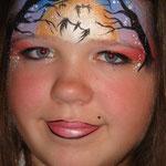 Kinderschminken zu Halloween von den Facepainters aus Hinte