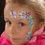 Kinderschminken von den Facepeinters beim Sommmerfest vom Lidl Cloppenburg