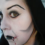 Face painting von den Facepainters für Halloween in Emden Leer Aurich Norden Hinte Krummhörn Vamp