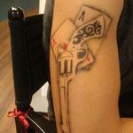 Airbrush Tattoo von den Facepainters im Einrichtungszentrum Konken in Leer