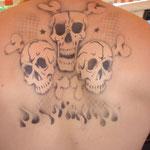 Airbrush Tattoo von den Facepainters für die Sparkasse Aurich-Norden in Hage