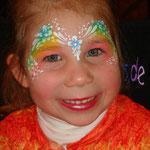Kinderschminken von den Facepainters im Norder Tor in Norden